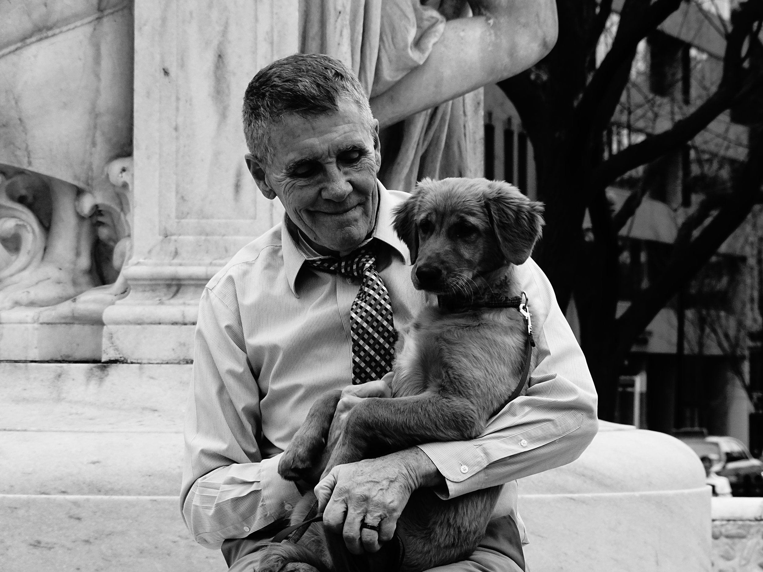 Man and Dog, Washington, DC 2016