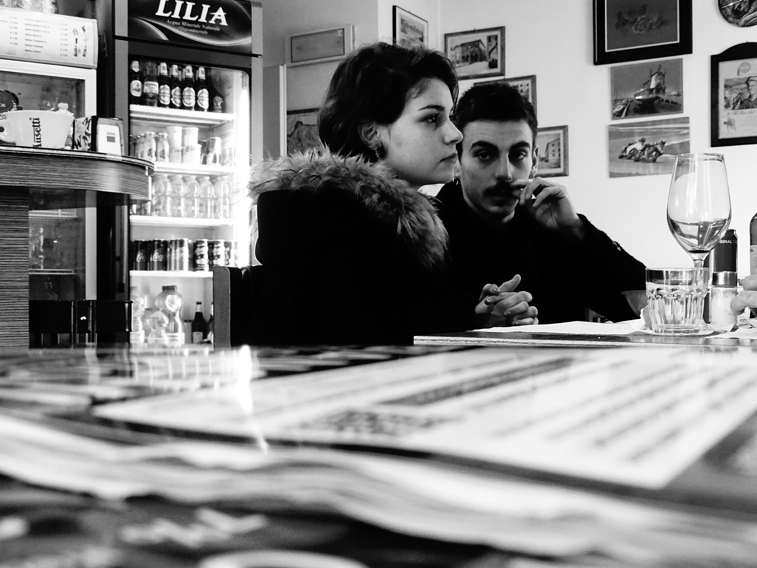 Young Couple in a Café, Lucca 2018