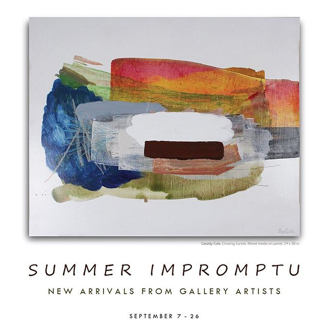 Art Crawl is around the corner and we're over here getting ready for tomorrow night's opening! Our #SummerImpromptu pays ode to the last days of summertime with new work from our artists including Cassidy Cole, Bob Durham, Edie Mandy, Eva Magill-Oliver and more.. See you Saturday 6-9, Nashville! #FirstBankFirstSaturday