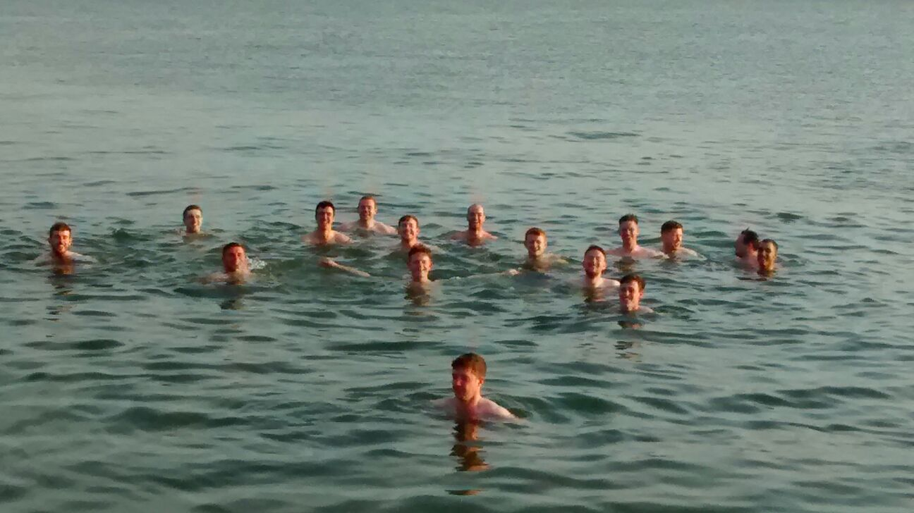 Our Adult Hurlers enjoyed a dip in the sea on Monday evening after training in the sunshine.