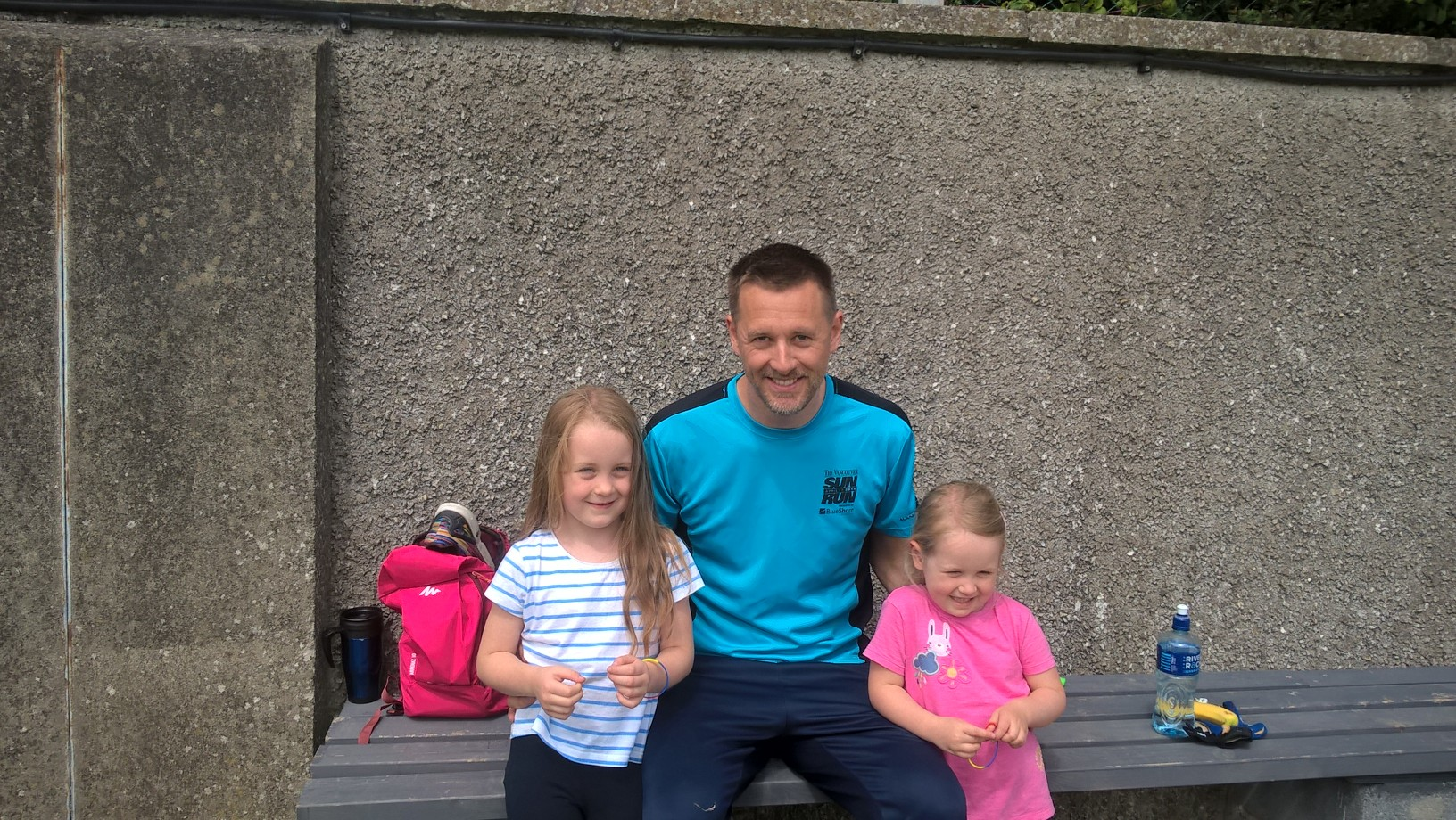 Well done to Players of the Week Peggy & Cara, seen here with their proud dad and nursery coach Shane.