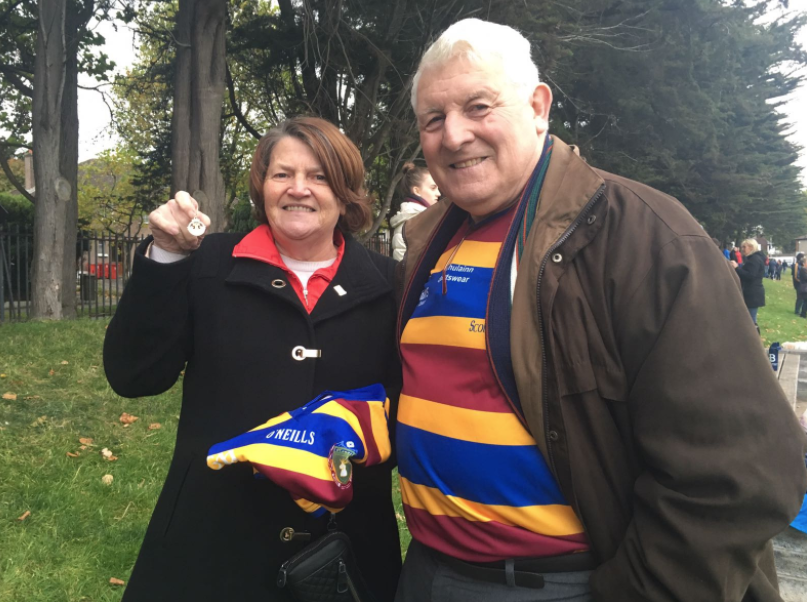 Liam pictured here with his wife Bernadette holding the 1968 IHC winning medal!