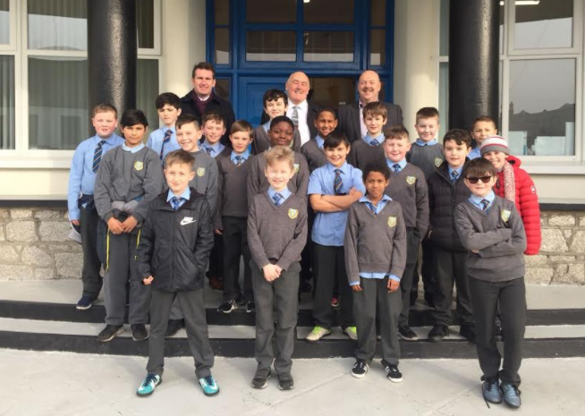 Senator Billy Lawless meeting the O'Connell Boys