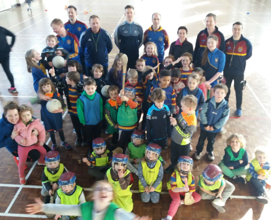 Group picture with Scoil Star Andy Bunyan last week at the Nursey!