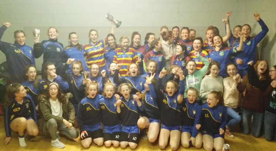 3 Scoil girls & ladies teams after their 2017 successes - more moments like this to be had on Sunday!