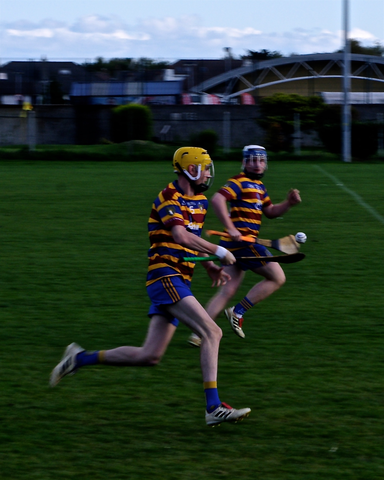 Daragh Levins on one of his many solo runs on Saturday, with Robbie Kennedy ready in support