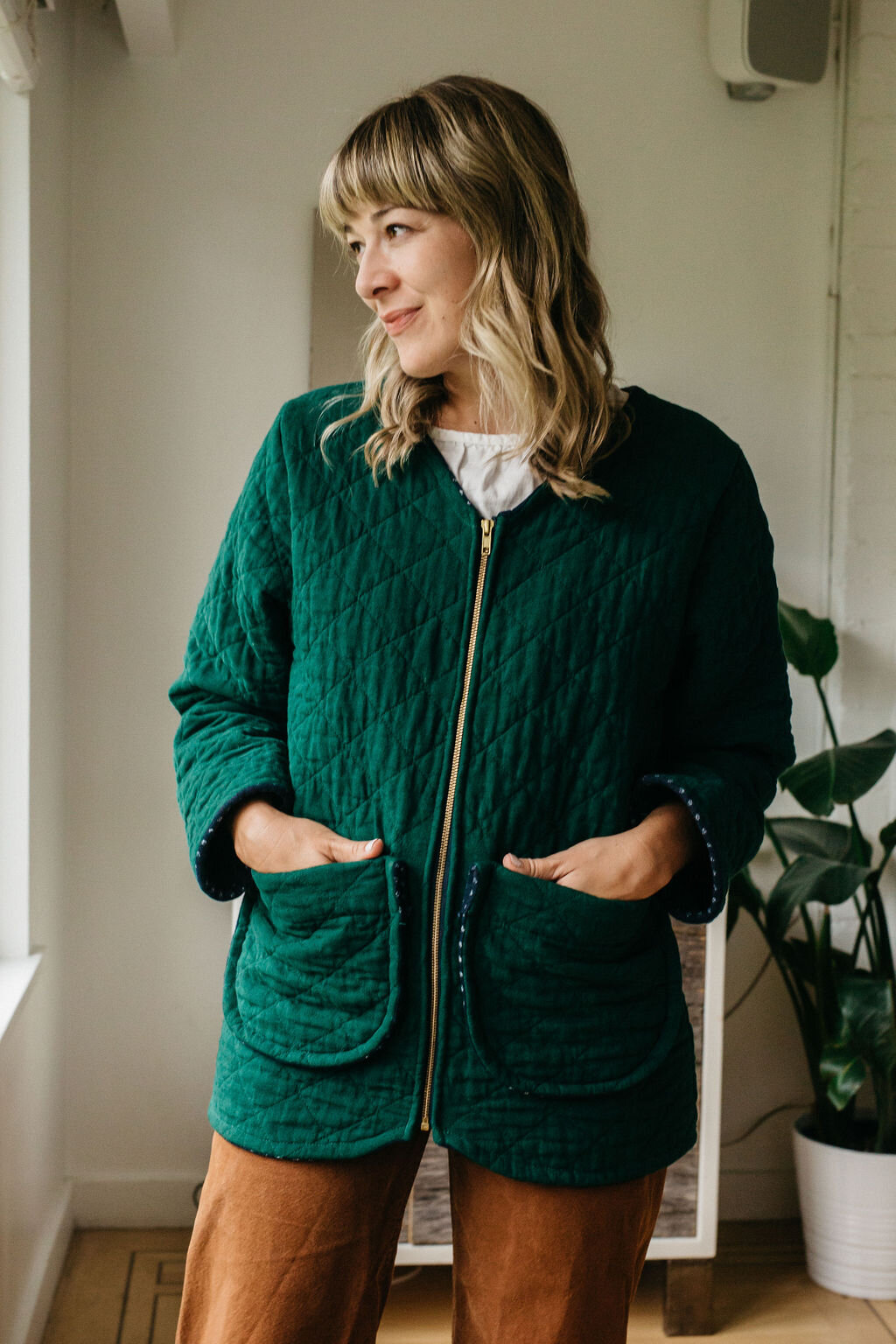 women's  sage jacket  in hunter green (my long time favourite colour)