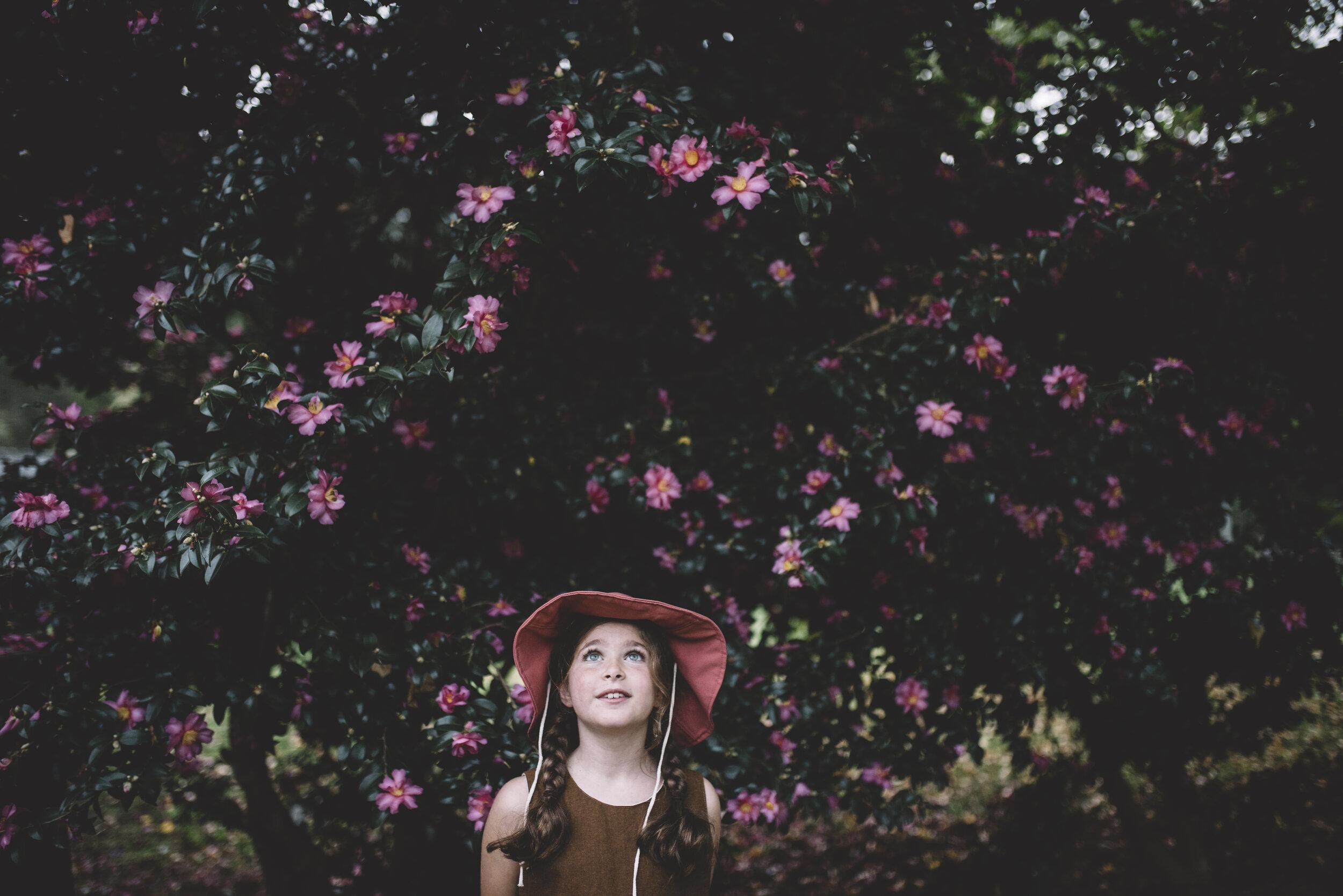 Amelie in our  Azalea sun hat