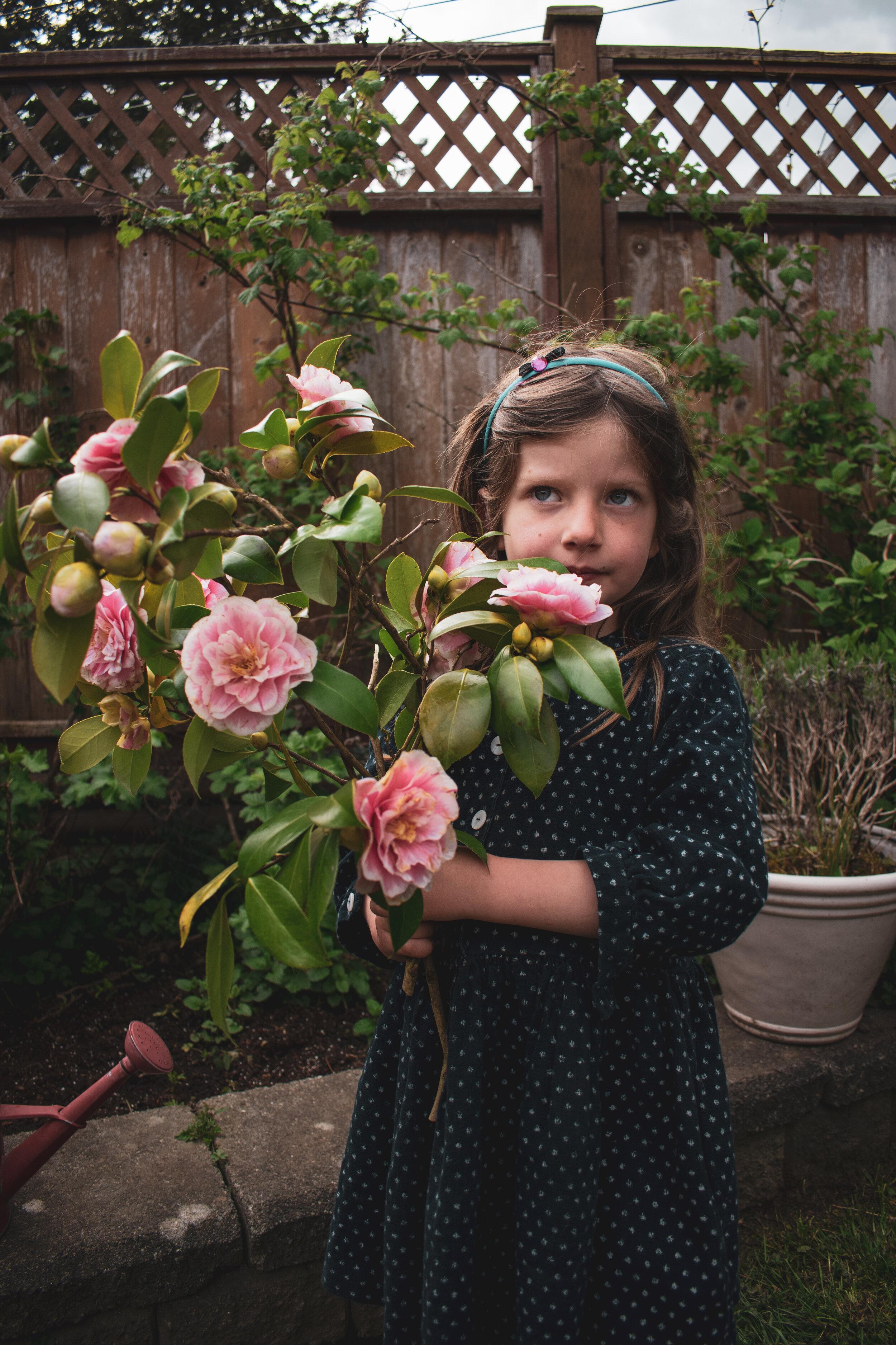 camellias and Sylvia dress