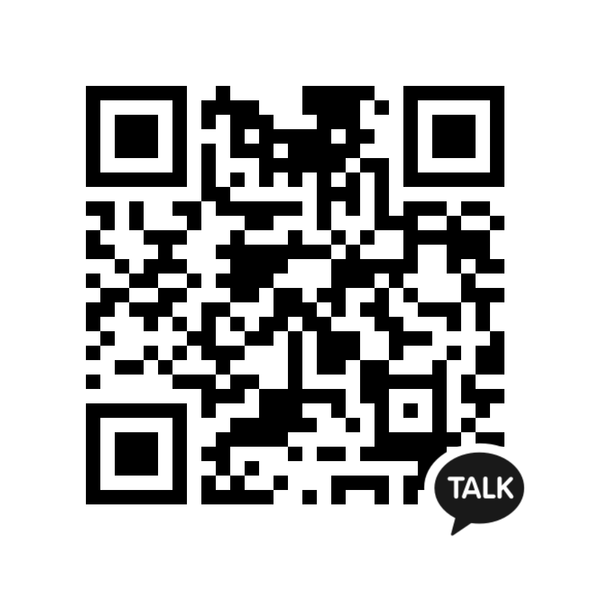 scan QR code in your Kakao App to Add Us