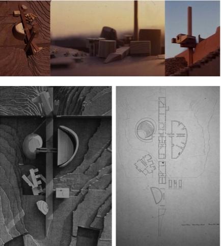 Chaco Canyon, pavilion proposal, 1983