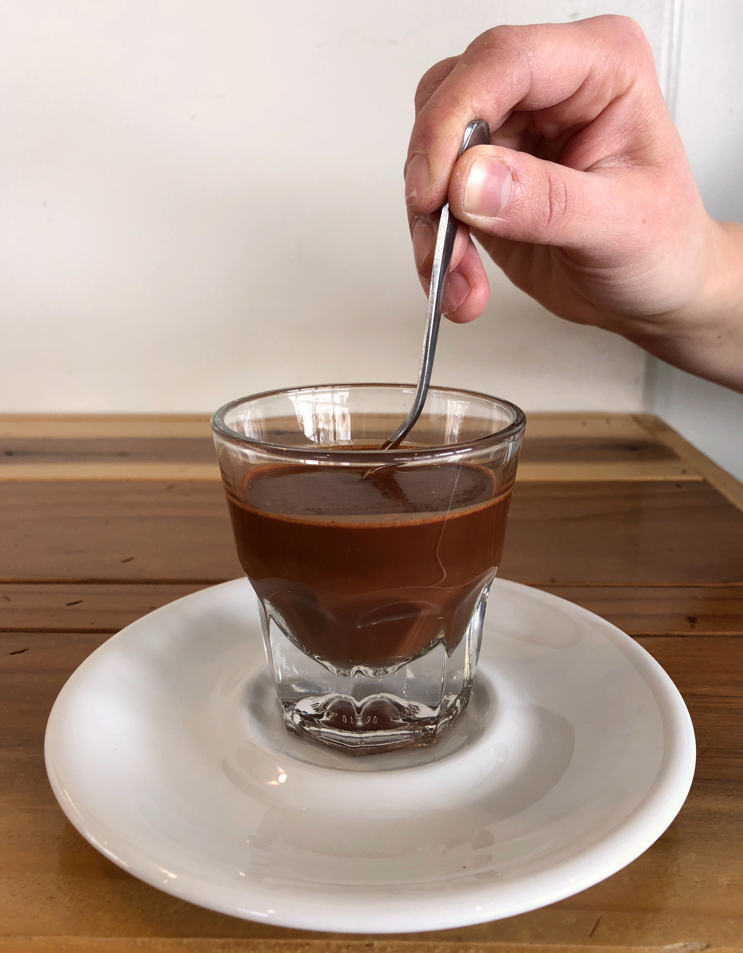"""Sipping Chocolate"" is a delicious way to drink pure chocolate. The recipe is basically equal parts (by weight)  ground chocolate  to boiling water."