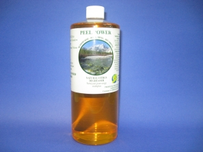 Peel Power is an environmentally friendly, biodegradable and 100% active natural citrus degreaser/cleaner and deodorizer and completely water soluble. Peel Power is safe to use on concrete stains, tar, floors, kitchen counters, bathrooms and much more.