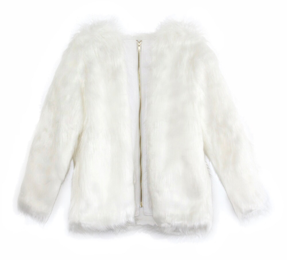 Monroe faux-fur jacket, $115