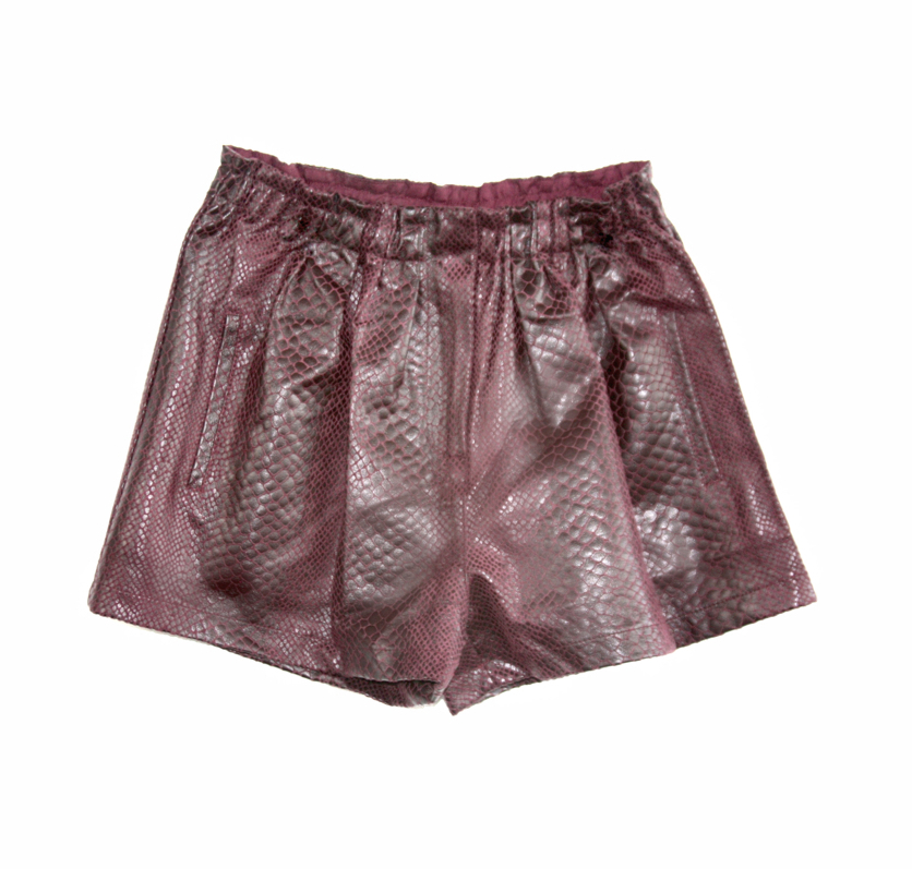 The Folorunso vegan snake print short, $50
