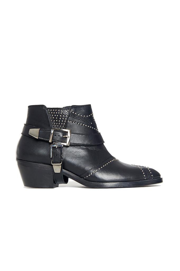 anine bing bianca black boots