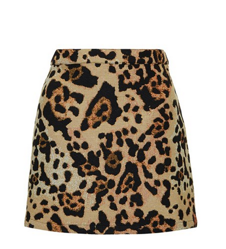 top shop leopard a line skirt