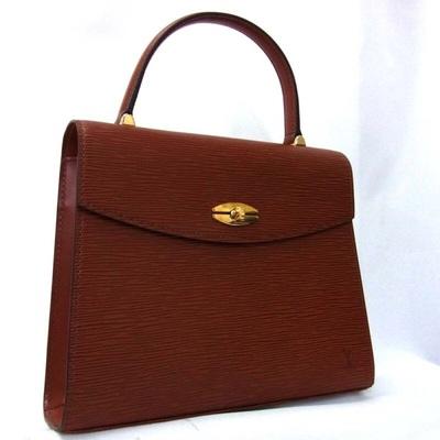 Brown Epi Louis Vuitton Malesherbes Handbag