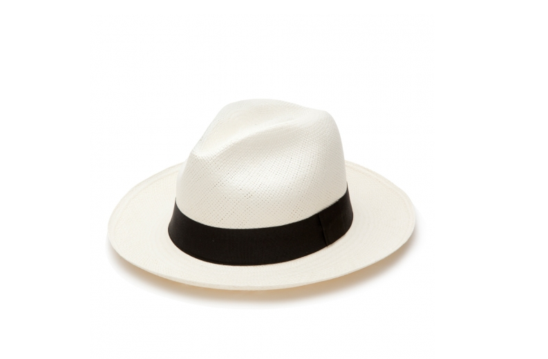 Cuyana panama hat black ribbon
