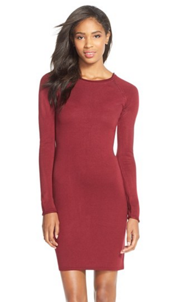 Marc New York body con dress burgundy