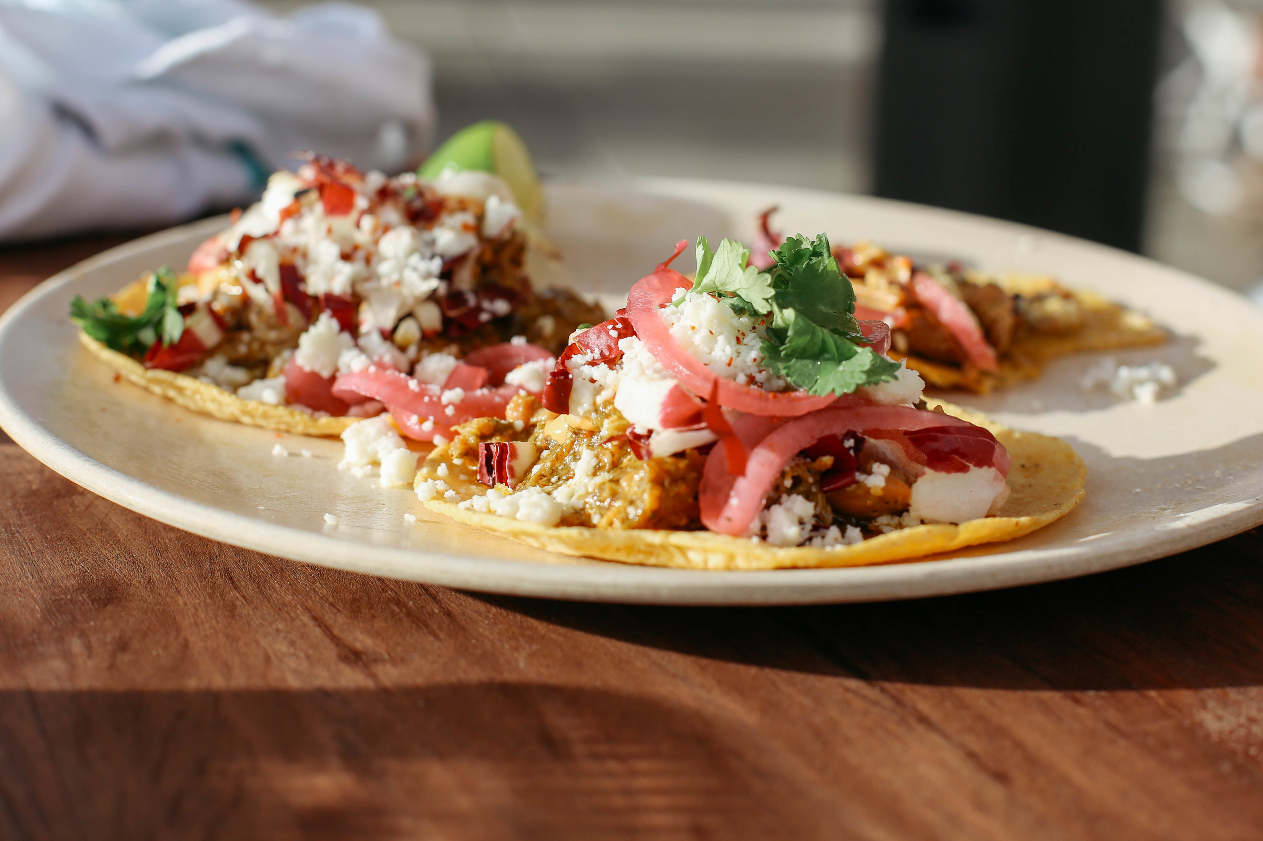 Absolute FAVORITE meal poolside- the chicken tacos!!! You must try these!!!!