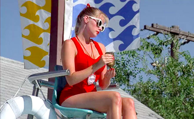 Wendy Peffercorn, the iconic hot lifeguard from  The Sandlot .Chick stole my look.