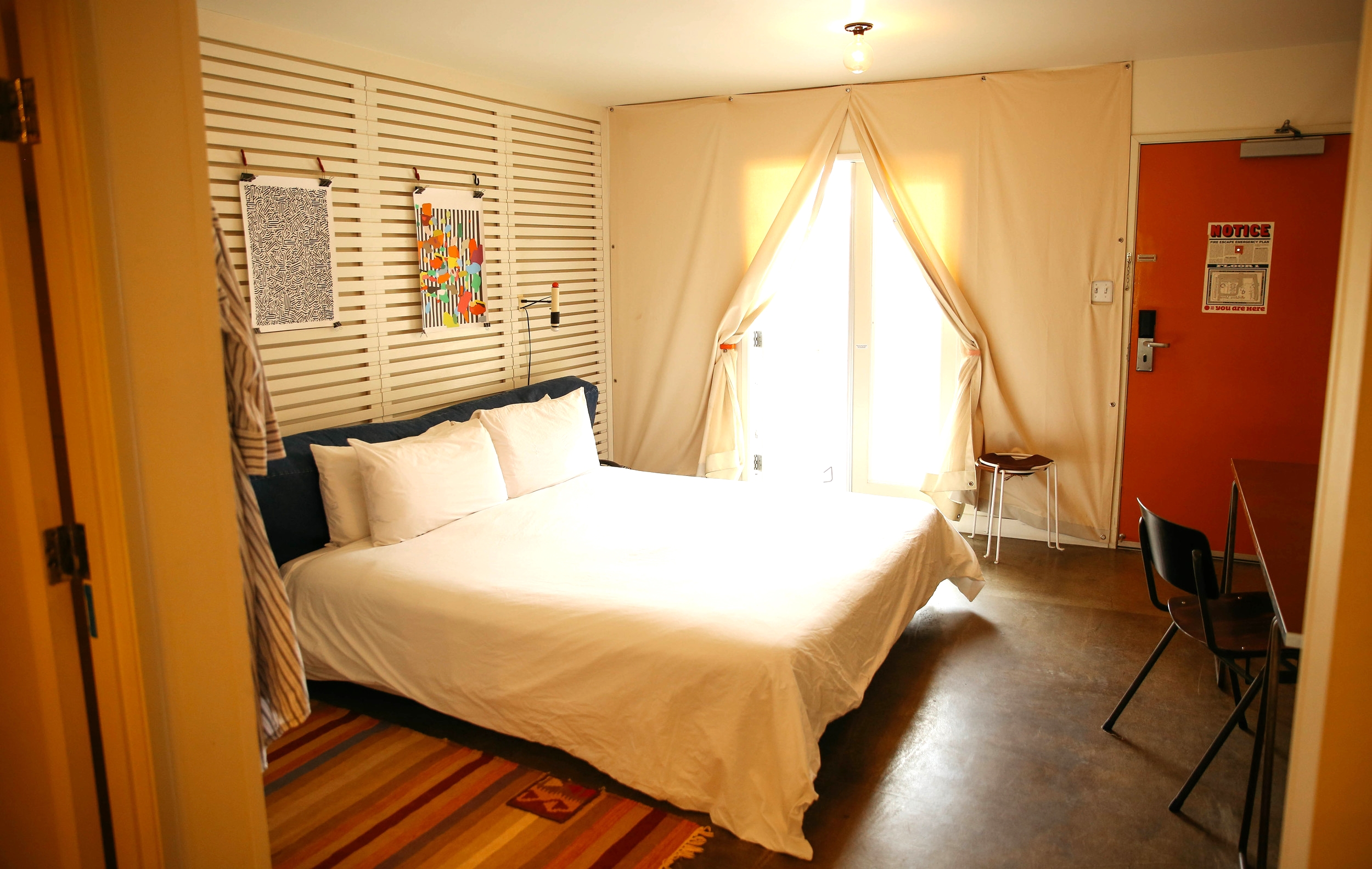 The rooms at The Ace are simple and clean... and awesome for a great night's sleep.