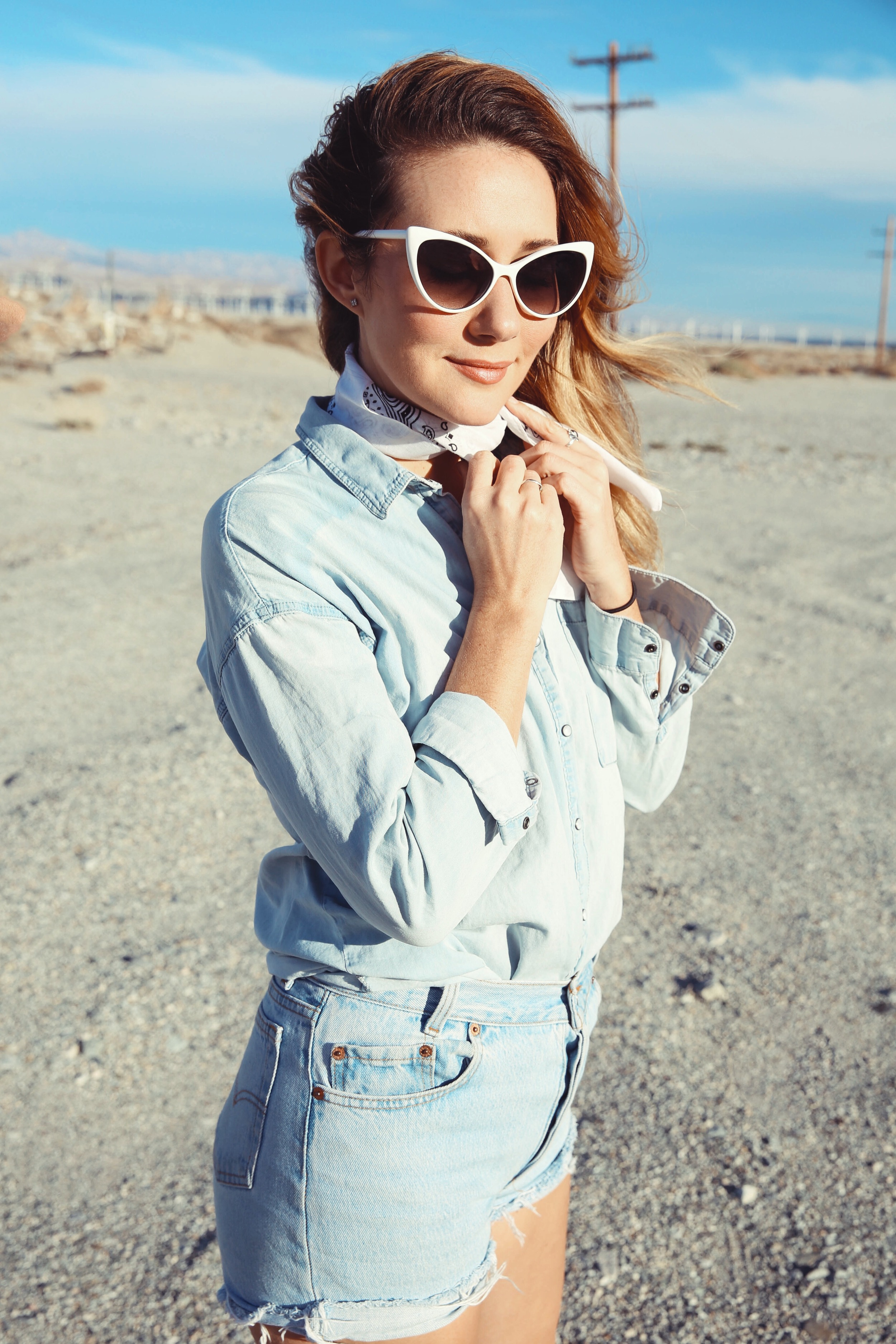 the style sauce ootd denim palm springs brian gove