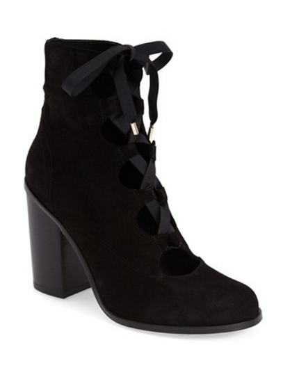 topshop magpie lace up heels black