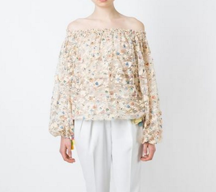 Chloe Floral Lace off the shoulder top