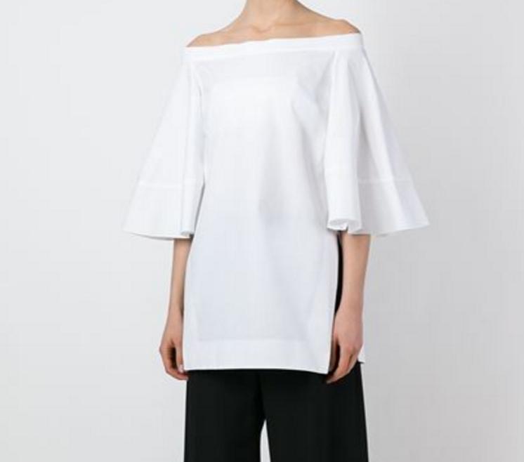 Ellery Flared sleeve off the shoulder blouse