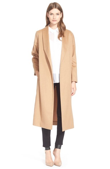 "AYR ""The Robe"" Camel Hair Maxi Coat"