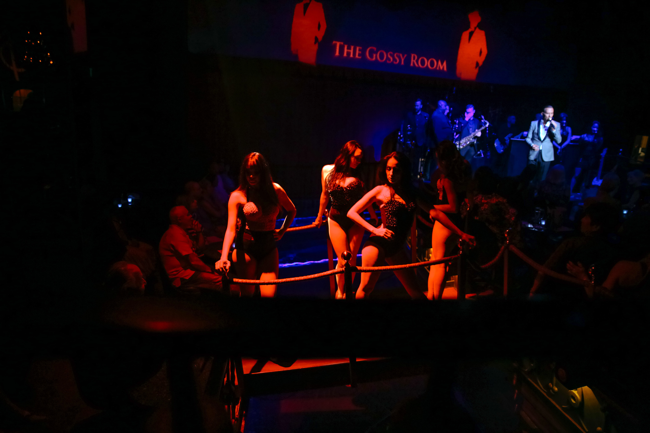 Dancers at Matt Goss' show.