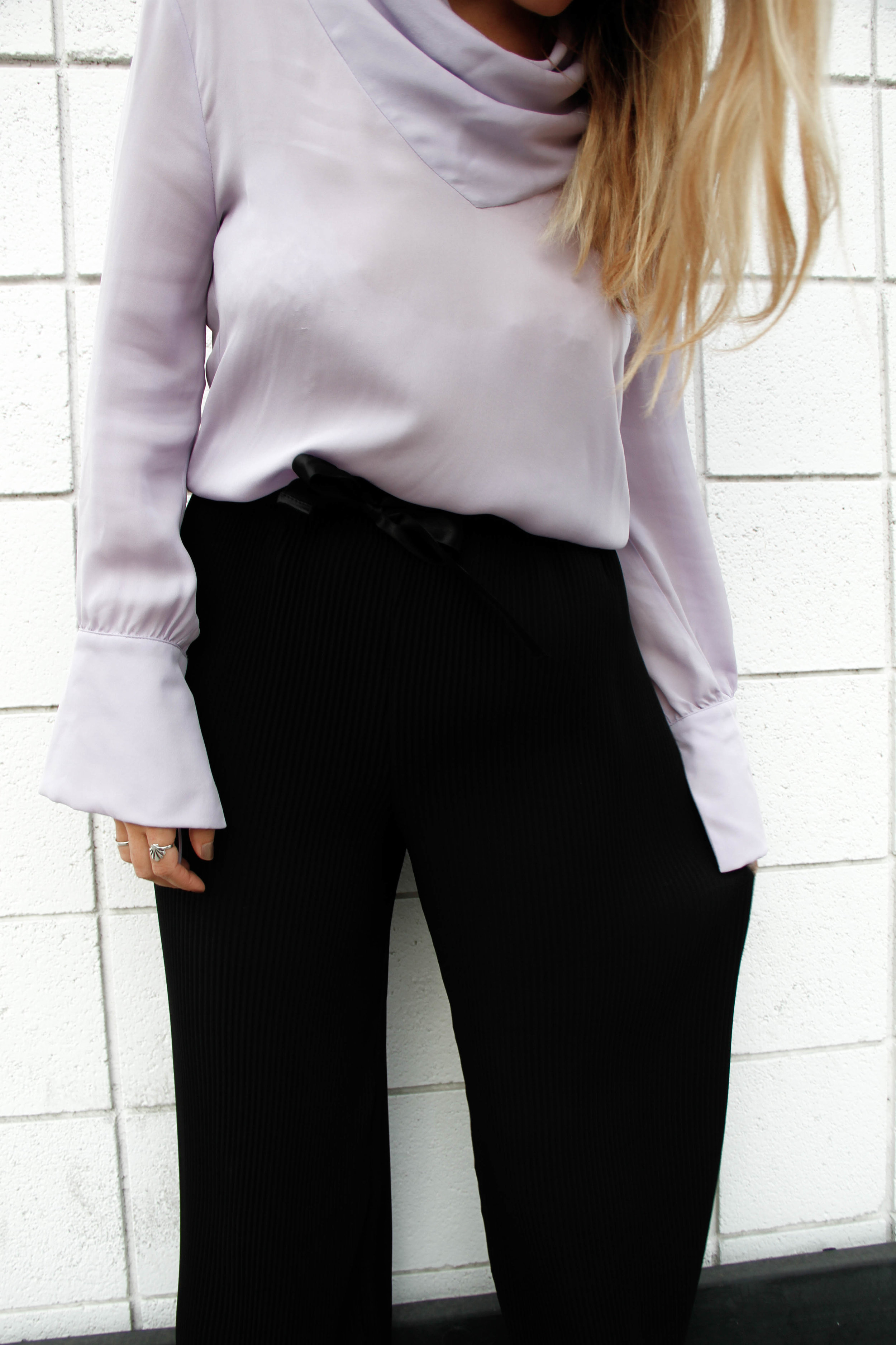 topshop purple silk blouse fahion blog the style sauce