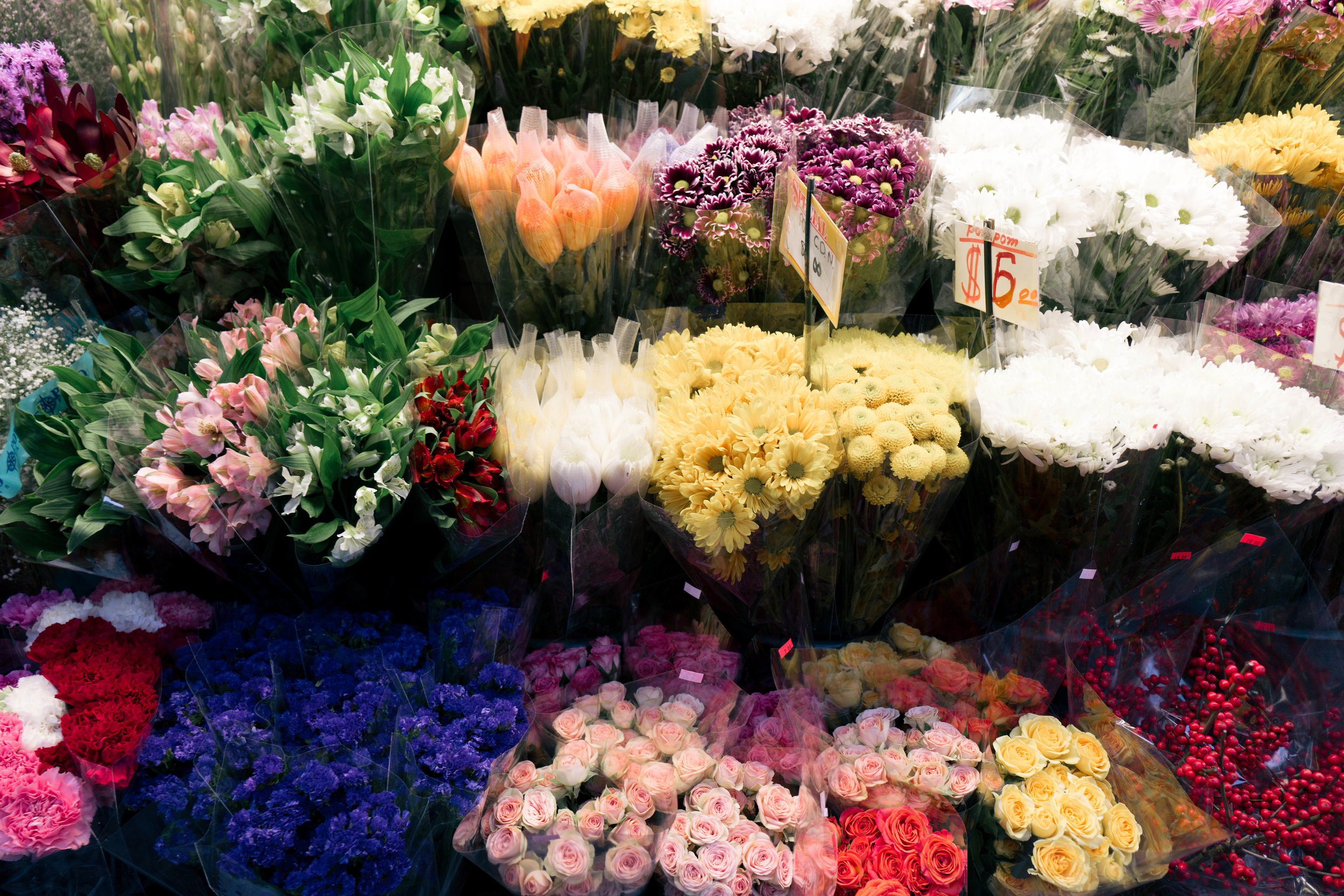 Flower marts in NYC are the best, and they're at basically every corner.