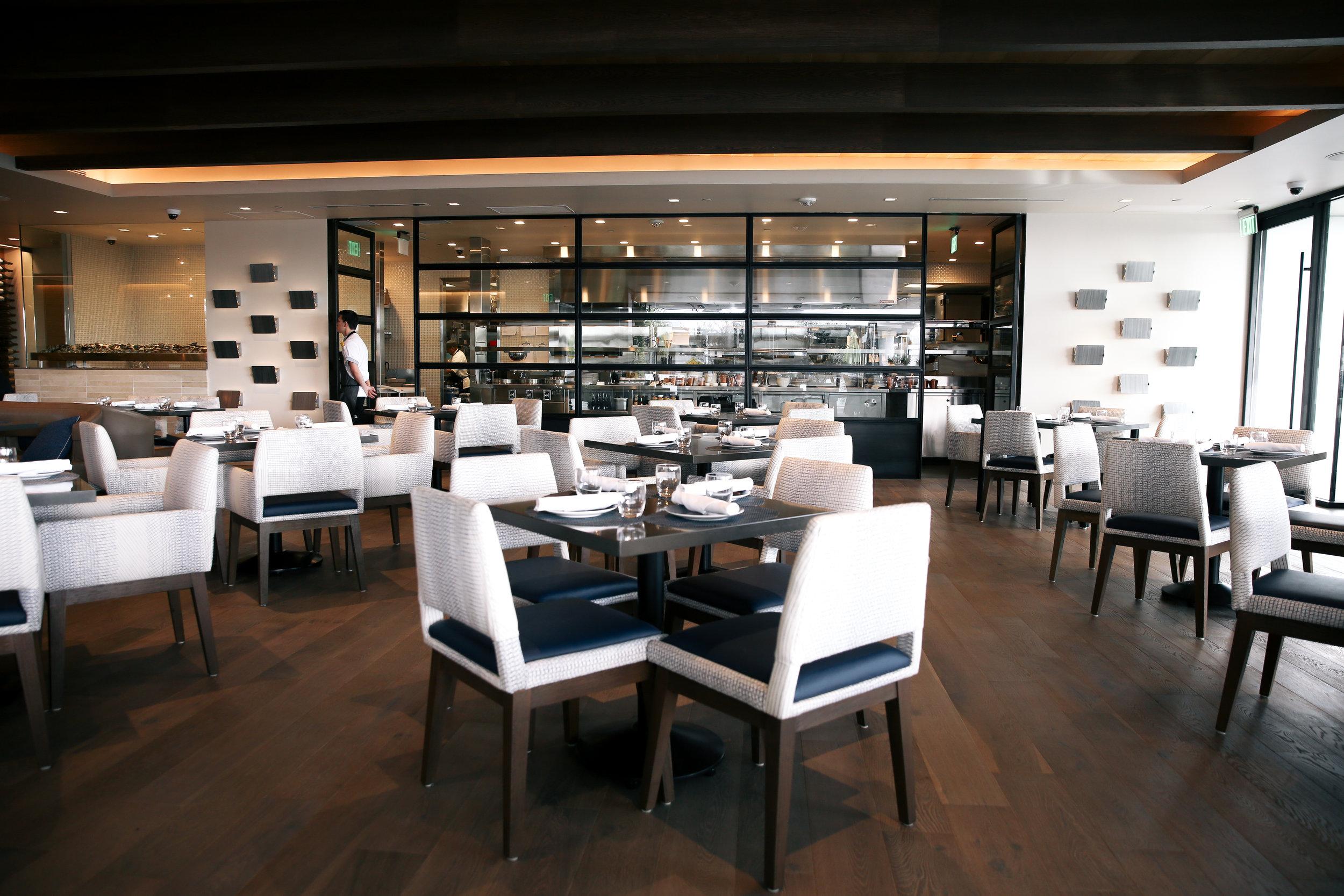 dining room interior decor at Bottlefish Los Angeles via The Style Sauce blog