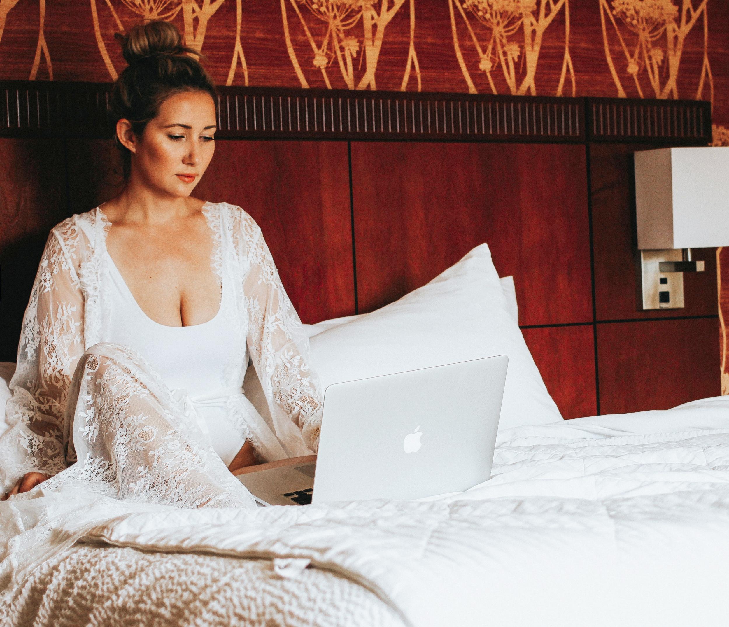 the style sauce x nudwear lace robe take me to paris loungewear