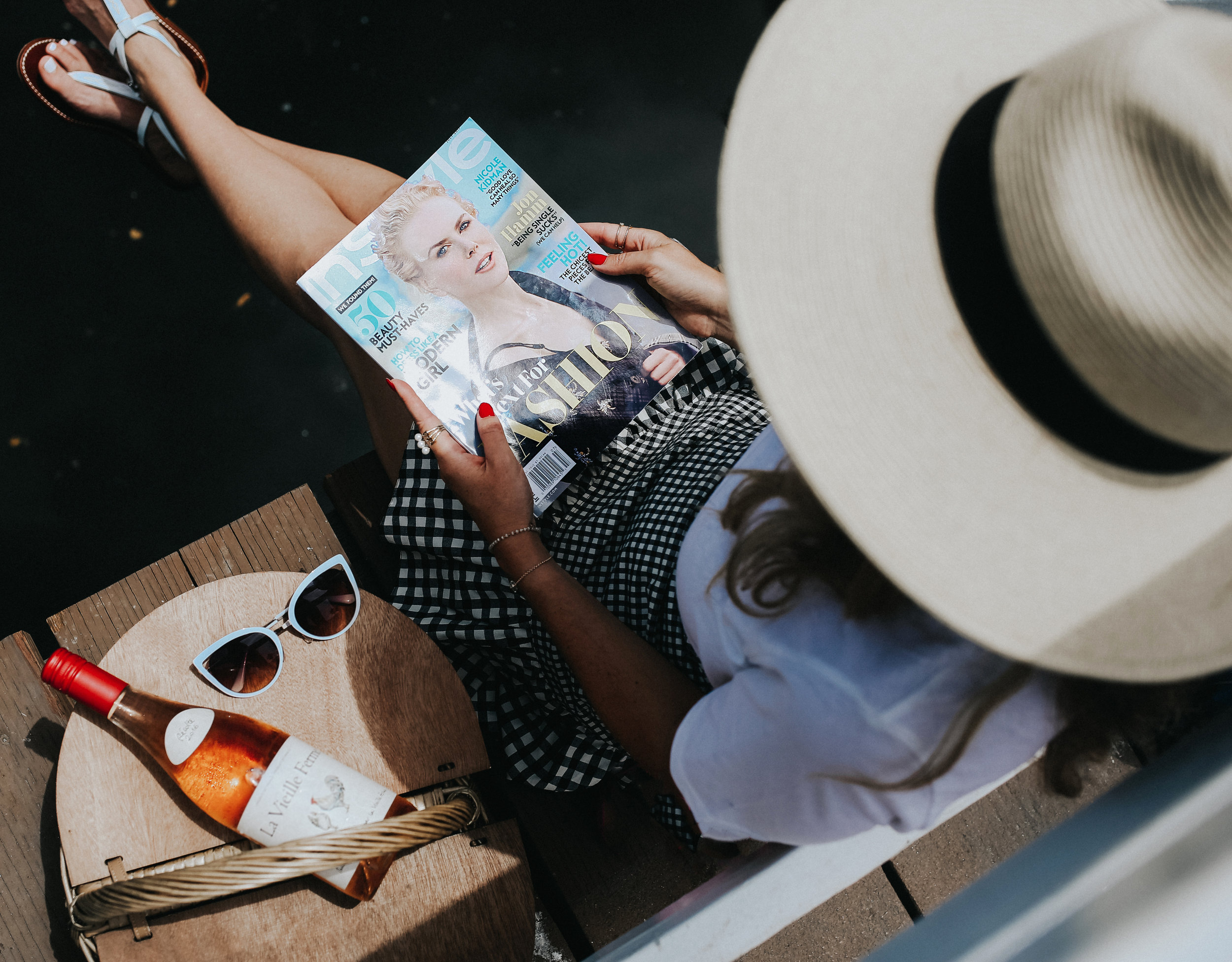 Relaxing on the canals with a picnic and a magazine is a great way to spend any summer day.