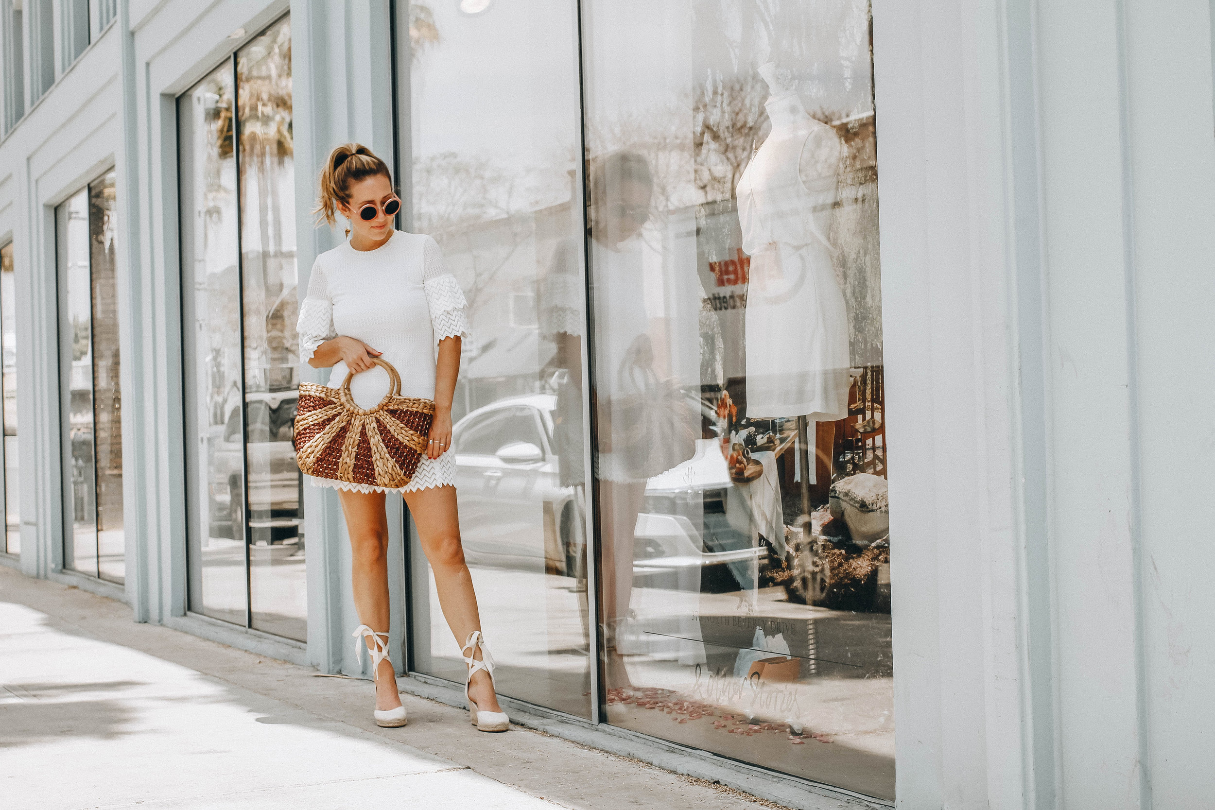 The Style Sauce Fashion blog // straw hand bags // spring style trends