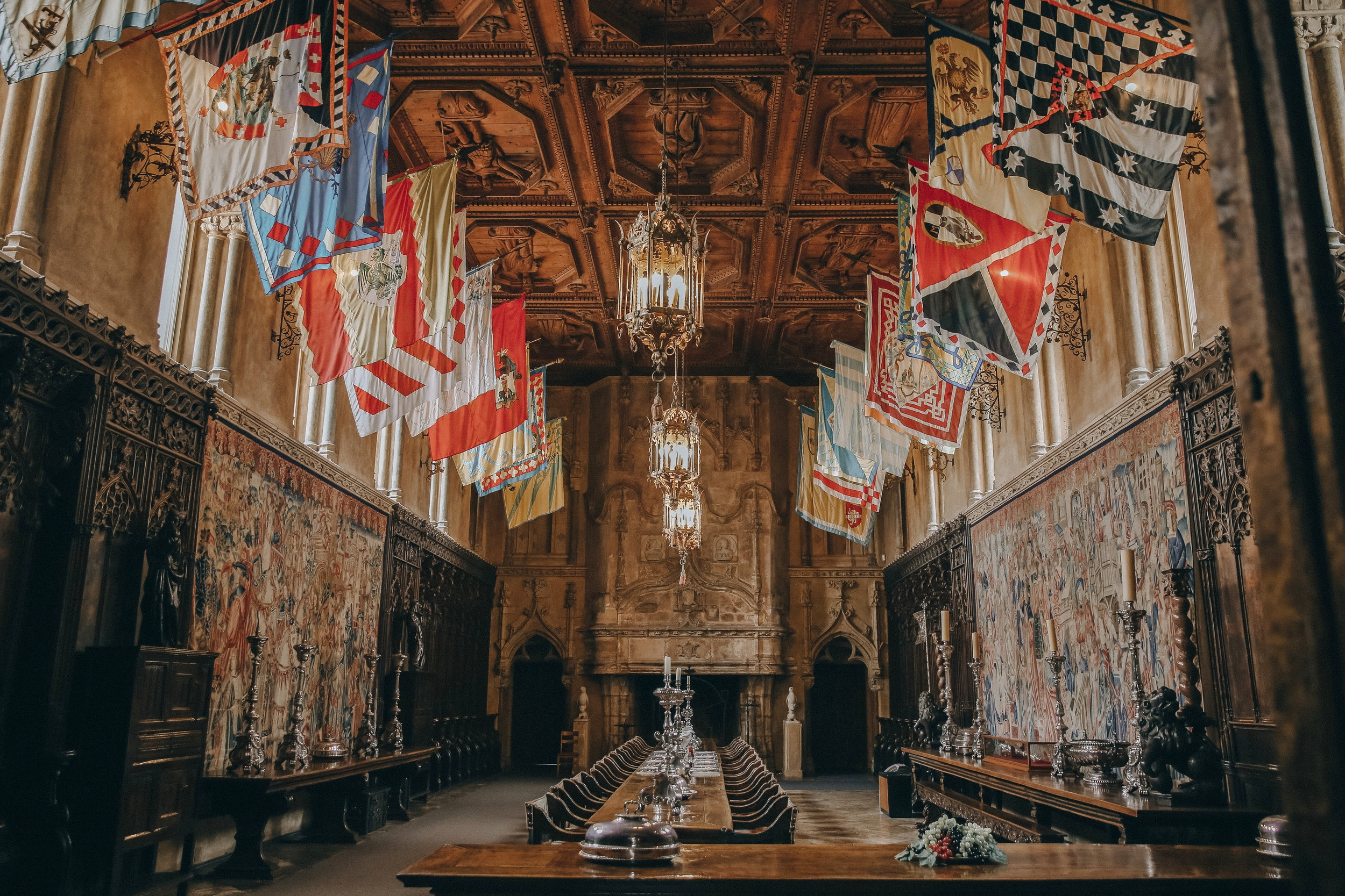 The grand dining room at Hearst Castle