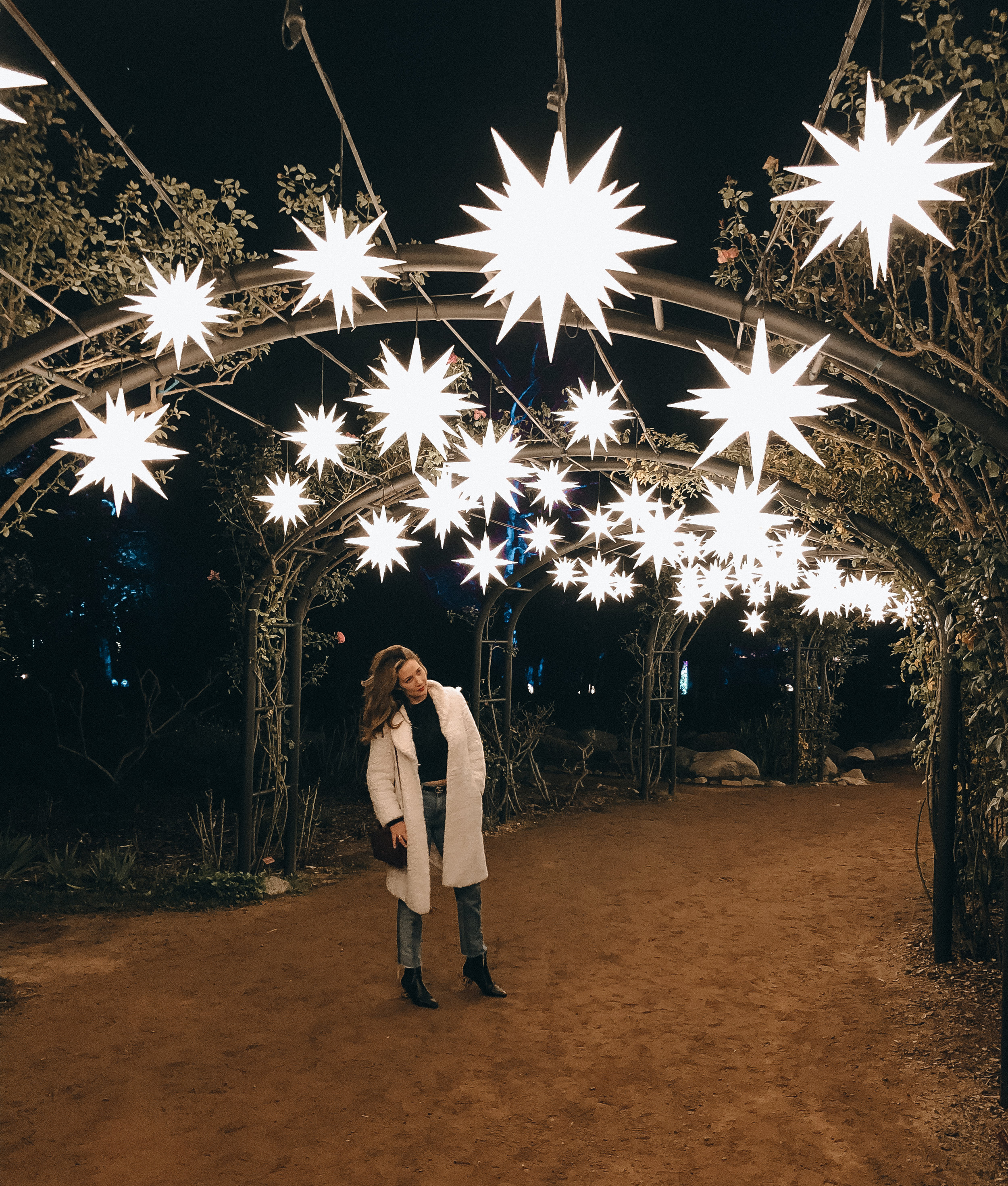 Descanso Gardens Enchanted Forest light installation // I Love LA via The Style Sauce blog
