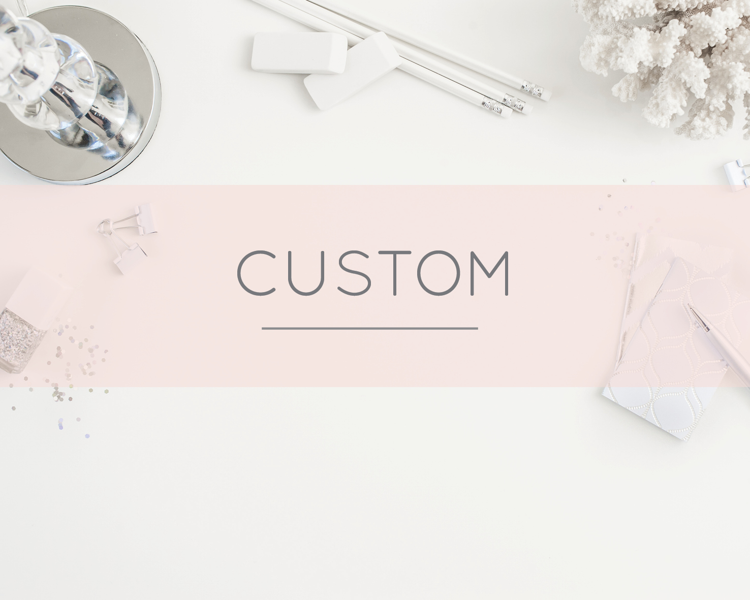 All The White Letter's designs are custom made so you can change elements within adesign to make it more 'you'. For example, if you like a sample design that is pink witha heart but wish for it to be cream with a tree,this can be done at no extra cost.   Click to see Custom Stationery designs!