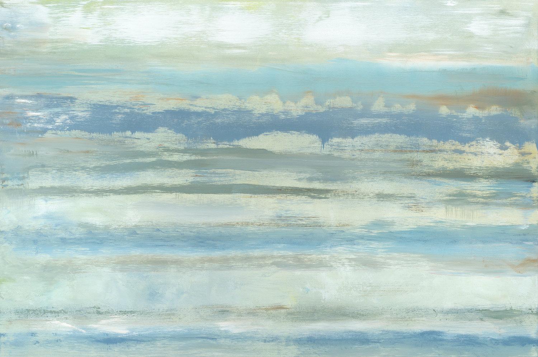 """Carmel River Beach"" - 40 x 60"" - Sold - Burlingame, CA"