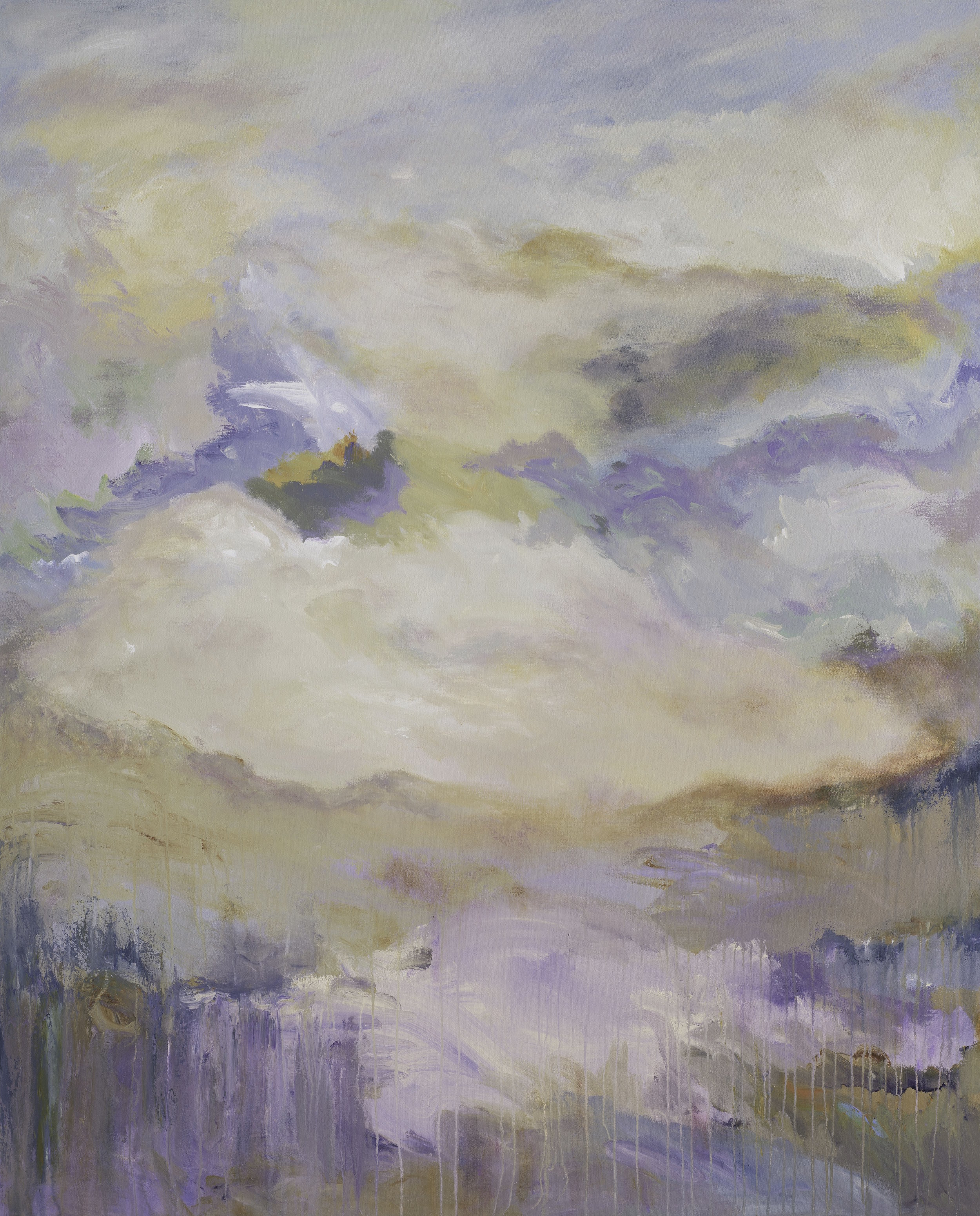 """""""Where the Valley Meets the Sea"""" - 60 x 48"""" - Sold - Mill Valley, CA"""