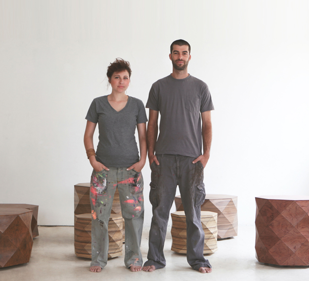 Textile artists:Tesler and Mendelovitch in their studio