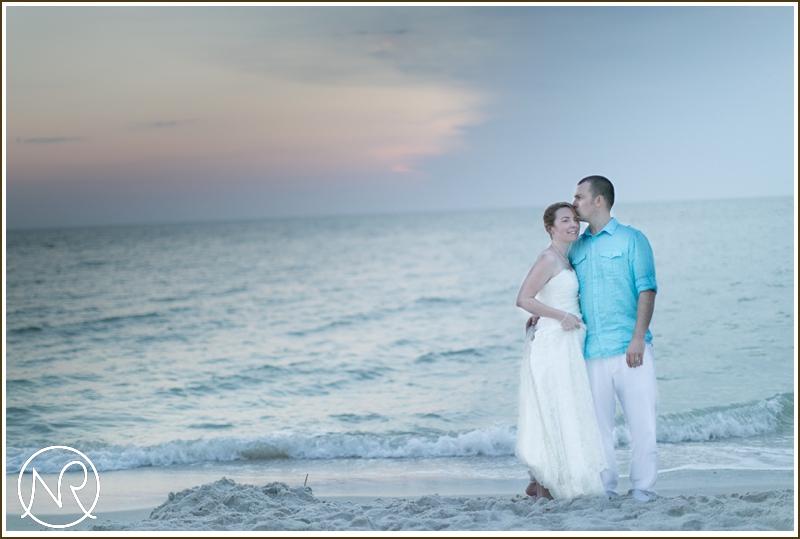 Sunset wedding Naples Beach Hotel