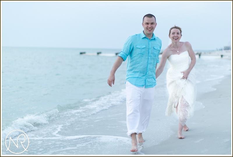 Beach wedding photographer Naples Florida