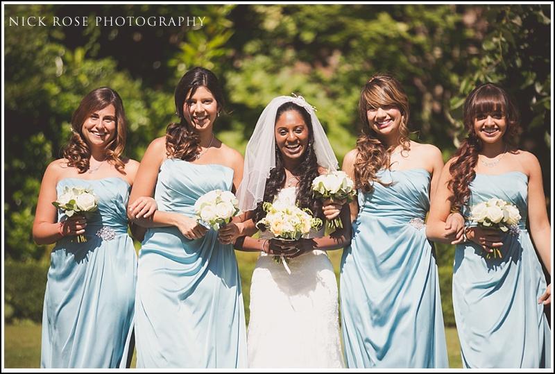 Bride and bridesmaids at Ashdown Park