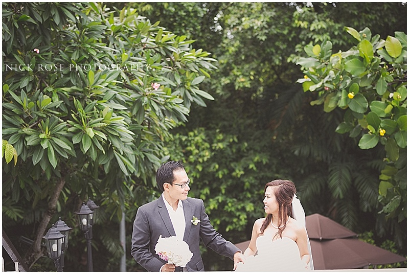 Bride and groom Singapore wedding