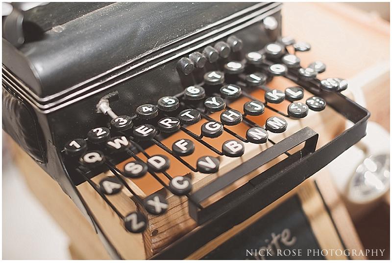 Vintage typewriter for destination wedding